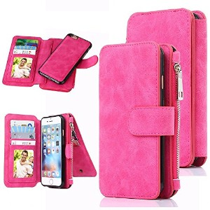 iPhone 6 Case, CaseUp 12 Card Slot Series - Premium Flip PU Leather Wallet Case Cover (ピンク)お財布付き ...