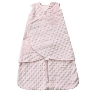 HALO SleepSack Plush Dot Velboa Swaddle, Pink, Newborn by Halo