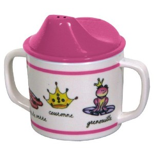 Baby Cie Melamine Sippy Cup with French Words, Princess by Baby Cie
