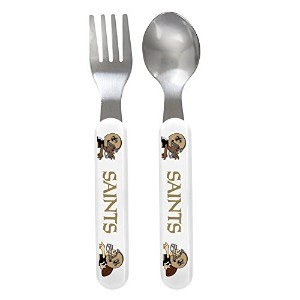 Baby Fanatic Fork and Spoon Set, New Orleans Saints by Baby Fanatic