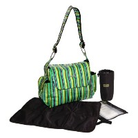 Bibi And Mimi Diaper Bag, Stripes Green by Bibi & Mimi