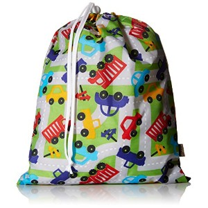 Kushies On The Go Wet Bag with Pacifier Pouch, Boy Print by Kushies