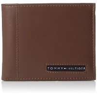 Tommy Hilfiger トミーフィルフィガー 財布 メンズ 財布 Men's Leather Ranger Passcase Wallet (Brown) (Tan)