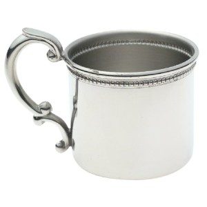 Empire Pewter Beaded Baby Cup by Empire Silver