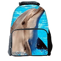Lawlait Kids イルカのバックパック Print Cute School Backpack (bule dolphins)