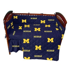 Michigan 5 piece Baby Crib Set by College Covers by College Covers