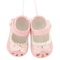 Baby Girl Shoes Christmas or Hanging Ornament by Midwest-CBK