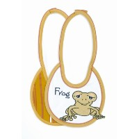 Mud Pie Baby Animal Crackers Frog Bib by Mud Pie