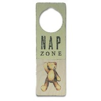 Tree By Kerri Lee Wooden Doorknob Sign, Nap Zone by Tree by Kerri Lee