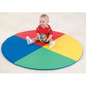 Children s Factory CF362-159 Four Color Pie Mat by Children's Factory