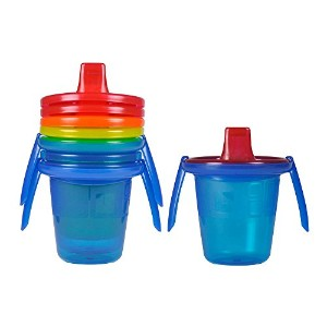 The First Years Take & Toss 4 Count Spill-Proof Trainer Sippy Cups with Removable Handles, 7 Ounce...