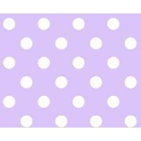 SheetWorld Fitted Pack N Play (Graco Square Playard) Sheet - Pastel Lavender Polka Dots Woven -...