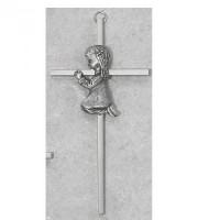 6 SILVER GIRL WALL CROSS BABY INFANT CHRISTENING BAPTISM SHOWER by KeegansCatholicTreasures by...