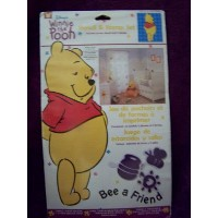 1 X Winnie the Pooh Bee a Friend Stencil & Stamp Set for Nursery Child Room Decor Walls Furniture...