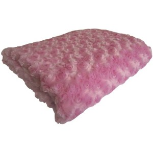 Baby Doll Bedding Rosey Chenille Reversible Blanket, Pink by BabyDoll Bedding