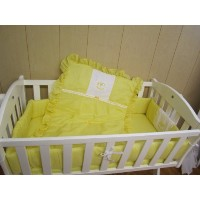 Baby Doll Bedding Gingham with Rocking Horse Applique Cradle Bedding Set, Yellow by BabyDoll Bedding