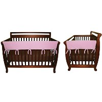 CribWrap Crib Wrap 3PC Rail Cover Set By Trend Lab - 1- 51 Front Rail Cover & 2- 27 Side Rail...