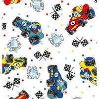SheetWorld Fitted Crib / Toddler Sheet - Fun Race Cars - Made In USA by sheetworld