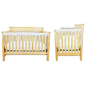 Narrow CribWrap Crib Wrap 3PC Rail Cover Set By Trend Lab - 1- 51 Front Rail Cover & 2- 27 Side...