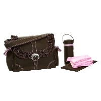 Kalencom Miss Prissy Buckle Bag, Chocolate/Pink by Kalencom