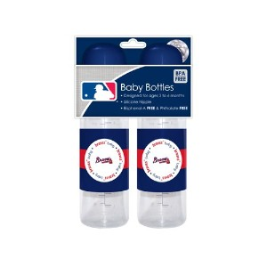 MLB Atlanta Braves Baby Bottles, by Baby Fanatic