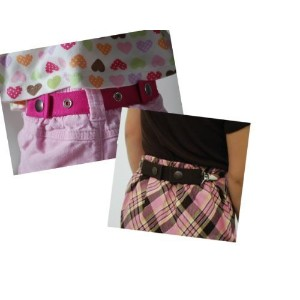 Dapper Snapper Toddler Belt (with Clips) Pink and Black by Dapper Snappers