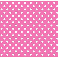 SheetWorld Fitted Pack N Play (Graco) Sheet - Primary Polka Dots Pink Woven - Made In USA by...