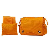 Kalencom Water Repellant Messenger Bag, Pumpkin by Kalencom