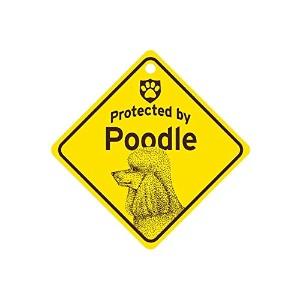 Protected by Poodle スモールサインボード:プードル 監視中 ミニ看板 アメリカ製 Made in U.S.A [並行輸入品]