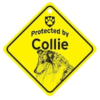Protected by Collie スモールサインボード:コリー 監視中 ミニ看板 アメリカ製 Made in U.S.A [並行輸入品]