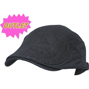 OUTLET ウォッシュ加工 ハンチング cap 帽子 黒
