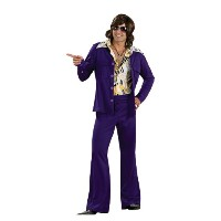Leisure Suit Deluxe (Purple) Adult Costume レジャースーツデラックス(パープル)大人用コスチューム♪ハロウィン♪サイズ:Standard One-Size