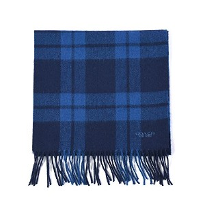 コーチ マフラー Mount Plaid Scarf(Midnight/Denim) COACH【並行輸入品】