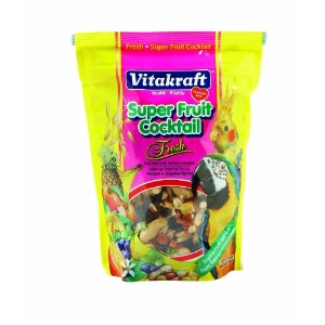 Vitakraft Super Fruit Cocktail Treat for All Parrots & Cockatiels, 20 Ounce Pouch by Vitakraft