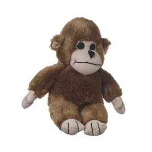 Multipet's Look Who's Talking Plush Filled Monkey 6-In Dog Toy Stuffed Pet