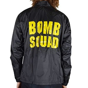 (スラッシャー)THRASHER MAGZINE コーチジャケット LTD Bomb Squad Coaches Jacket Black(ブラック)