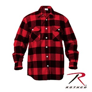 ROTHCO EXTRA HEAVYWEIGHT BRAWNY FLANNEL SHIRTS 4739 (XXL, レッド)