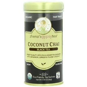 海外直送品Zhena's Gypsy Tea Coconut Chai Organic Tea, Coconut Chai, 22 BAG(case of 6)