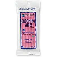 Earthbath All Natural Puppy Grooming Wipes, 28-Count Travel Pack Dogs Cats Pets