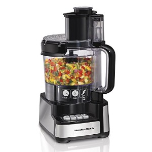 Hamilton Beach 70725A 12-Cup Stack and Snap Food Processor [並行輸入品]