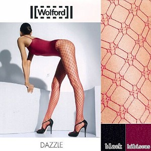 【Wolford】DAZZLE フィッシュネット パンティストッキング(hibiscus、M)