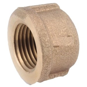 "Anderson Metals Corp Inc738108-08Red Brass Threaded Pipe Cap-1/2"" BRASS CAP (並行輸入品)"