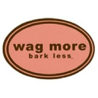 Wag More Bark Less Auto Car Office MAGNET Pink background with Brown Font