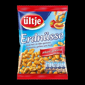 ultje peanuts - ultjeピーナッツ - pikant gewurzt, without fat roasted 200 g - 7,05 oz - スパイス、脂肪なしロースト。...