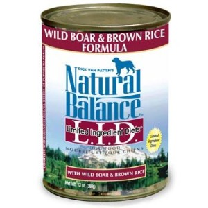 NB LID Can Wild Boar Rice 12x13 by Natural Balance