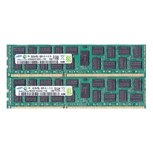 SAMSUNG純正 16GB(8GB×2枚組) PC3L-10600R 1333MHz 240pin Registered CL9 M393B1K70DH0