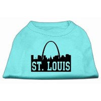 Mirage Pet Products 51-74 MDAQ St Louis Skyline Screen Print Shirt Aqua Med - 12