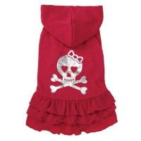 East Side Collection ZM3901 06 22 Rock Star Ruffle Dress for Dogs, Teacup Skull by East Side...