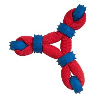 Boss Pet Chomper Gladiator Tuff Triangle Ring Tug for Pets, Red by Boss Pet