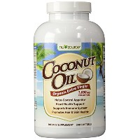 NuSource - Coconut Oil, Organic Extra Virgin 1000mg - 240ソフトジェル ココナッツオイル
